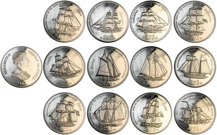 Монеты с изображением кораблей 25 центов 2014